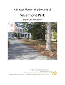 Silvermont Grounds Master Plan Cover